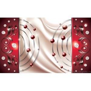 Fotografie tapet Abstractie Rosie Diamant 3D