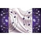 Fotografie tapet Abstractie Violet Diamant 3D