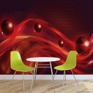 Fotografie tapet Abstractie rosu 3D