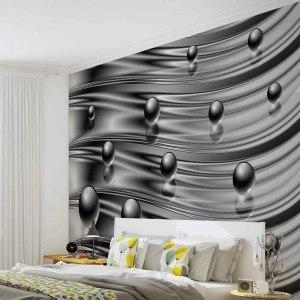 Fotografie tapet Abstractie gri - negru 3D