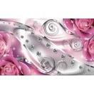 Fotografie tapet Diamant Floral roz 3D XL