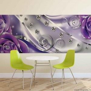 Fotografie tapet Diamant Floral violet 3D S Vlies