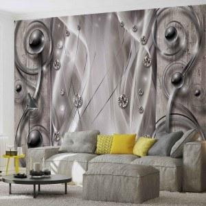 Fotografie tapet Abstractie - Argintie 3D