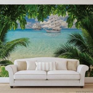 Fotografie tapet Plaja tropicala panorama