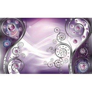 Fotografie tapet Abstractie Stil modern violet 3D