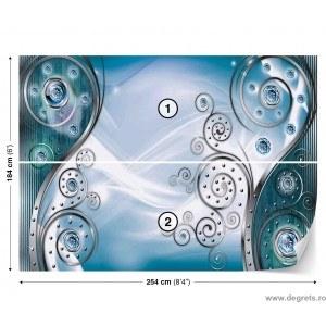 Fotografie tapet Abstractie Stil modern albastru 3D