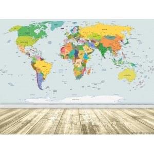 Fotografie tapet Harta Lumii 4 XL