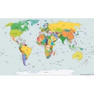Fotografie tapet Harta Lumii 4 L