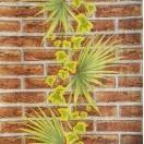Tapet impermeabil Caramida cu palma maro