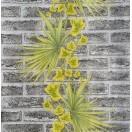 Tapet impermeabil Caramida cu palma alb