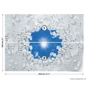 Fotografie tapet Cer albastru 3D L