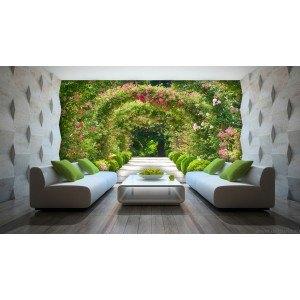 Fotografie tapet Tunel flori 3D