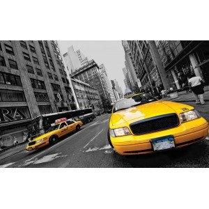 Fotografie tapet Taxi in New York 1