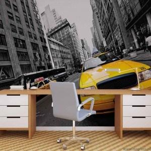 Fotografie tapet Taxi in New York 1