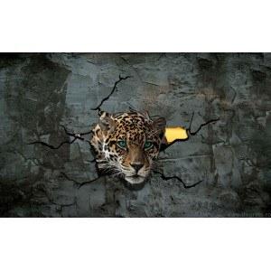 Fotografie tapet Leopard 3 3D