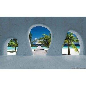 Fotografie tapet Insula tropicala