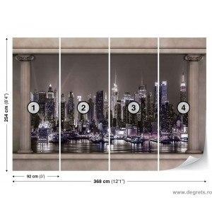 Fotografia tapet luminile orasului