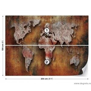 Fotografie tapet Harta Lumii 2