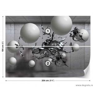 Fotografie tapet Monocromat - 3D abstractie