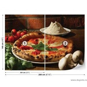 Fotografie tapet Pizza Vlies