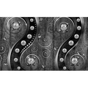 Fotografie tapet Vartej de vant - negru alb 3D