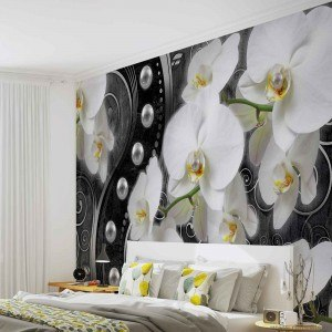 Fotografie tapet Abstractie Orhidee 6 3D L