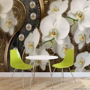 Fotografie tapet Abstractie Orhidee 7 3D L