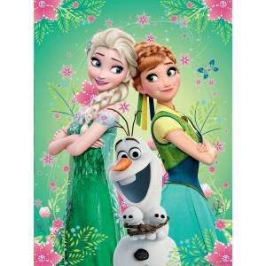 Fotografie tapet Elsa, Anna si Olaf