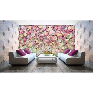 Fotografie tapet Perete de flori 3D