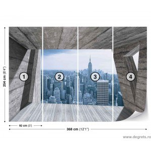 Fotografie tapet panorama New York