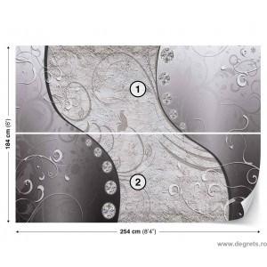 Fotografie tapet Diamant gri 3D