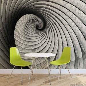 Fotografie tapet Iluzie 3D rotatie