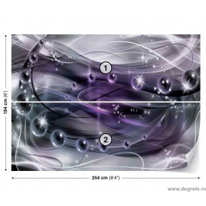 Fotografie tapet Abstractie Violet 3D