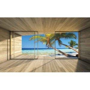 Fotografie tapet Casa pe plaja