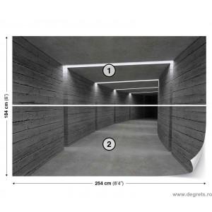 Fotografie tapet Lumini in tunel