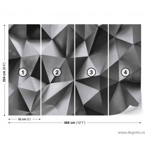 Fotografie tapet Abstractie Argintie 2 3D XL