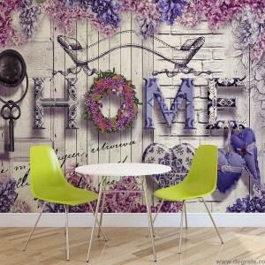 Fotografie tapet Casa violet XL
