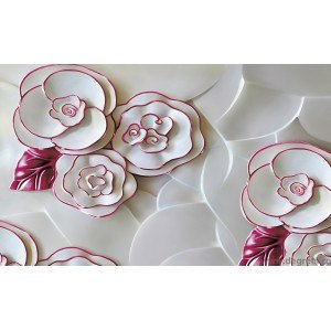 Fotografie tapet Abstractie Trandafiri 1 3D XL