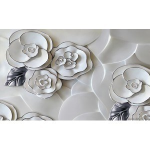 Fotografie tapet Trandafir abstractie 3 3D L