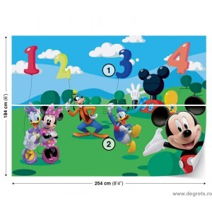 Fotografie tapet Mickey Mouse si Prietenii 1 L