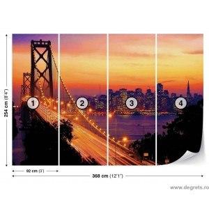 Fotografie tapet Rasarit peste San Francisco