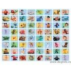 Colaj Disney 64 piese - Albastru