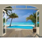 Fotografie tapet vinil premium Paradis pe plaja