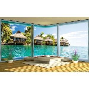 Fotografie tapet Caraibe 3D panorama 3XL Vlies