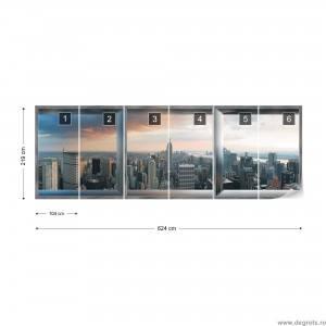 Fotografie tapet Panorama New York 3XL Vlies