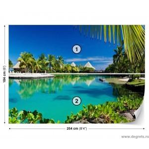 Fotografie tapet Plaja tropicala 2