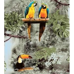 Tapet duplex Papagalii 3D