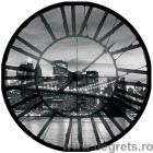 Fotografie tapet Ceasuri New York negru si alb Vlies