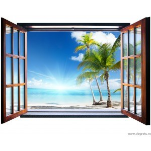 Fotografie tapet Hawaii 3D fereastra Vlies
