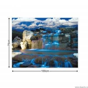Tablou Canvas Cascada albastra